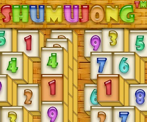 Games at Wellgames.com - Shumujong™ (digitz mahjong)