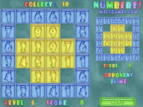 Numberz! Free Online Game